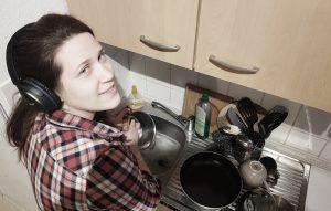 Abwaschen mit Podcast